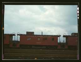 Caboose on the caboose track at C & NW RR's Proviso yard, Chicago, Ill. Jack Delano took this photo in April 1943.