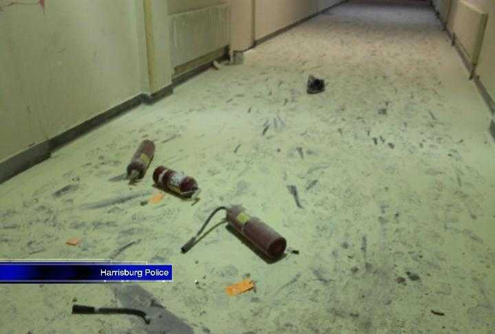 The school was burned, windows were broken, equipment, including computers, was stolen and the vandals discharged dozens of fire extinguishers, police said.