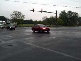 The traffic light at Fruitville Pike and Buch Avenue was among those affected.