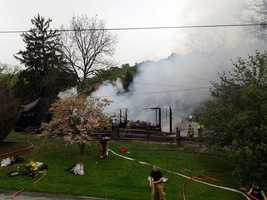 Fire destroyed a barn Wednesday morning in Lower Windsor Township, York County. The blaze was discovered about 10:30 a.m. along Meisenhelder Road.