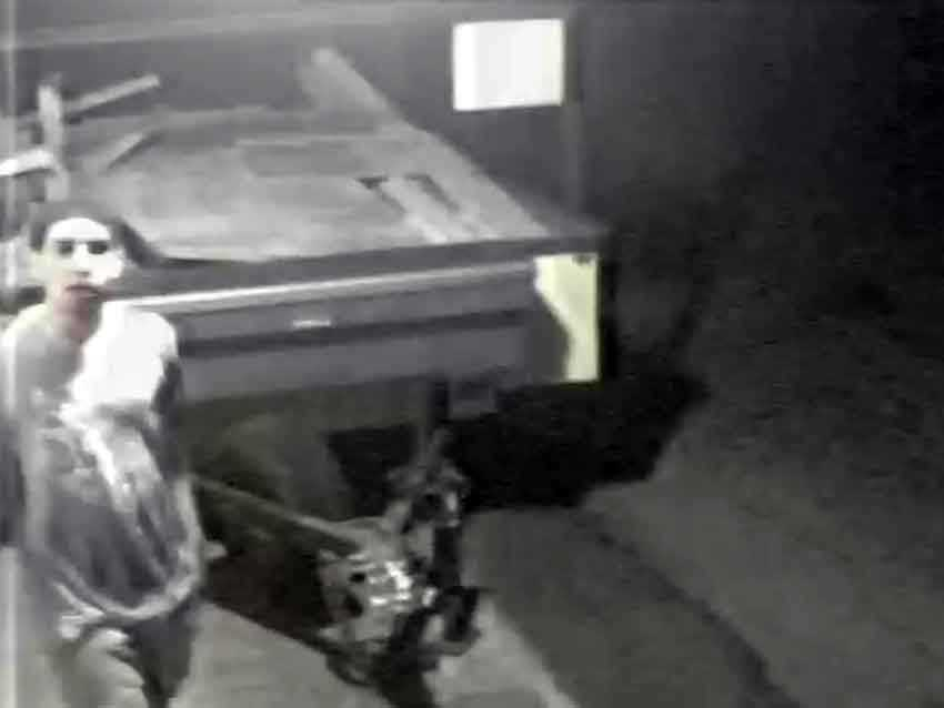 Lancaster police have released surveillance camera images of a man suspected in tire slashings.