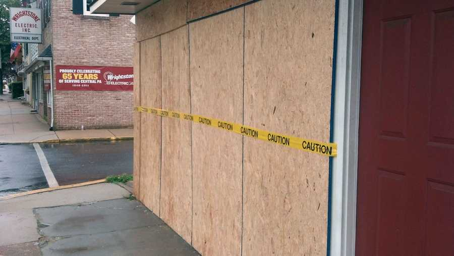 She was traveling eastbound in the first block of West Stouffer Alley, turned right onto the first block of South Market Street, hit the gas pedal instead of the brake, and crashed into the front window of GMP Antiques.
