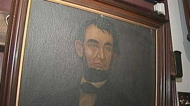 This painting is believed to be have been painted during the presidency of Abraham Lincoln.