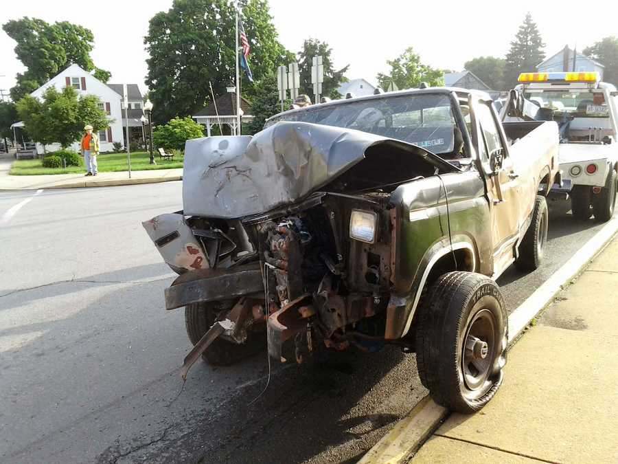 The truck driver, Caleb Groff, was treated for minor injuries. It's expected he will be cited for the crash.