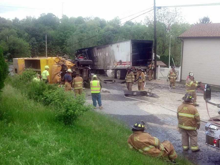 News 8's Barbara Barr took these photos of the crash along Route 72 in Swatara Township, Lebanon County.