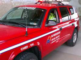 Emergency crews rescued two people from a boat Thursday on the Susquehanna River in Harrisburg.