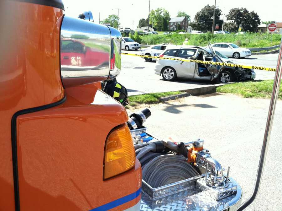 Police are investigating whether a medical incident with one of the drivers led to the four vehicle crash.