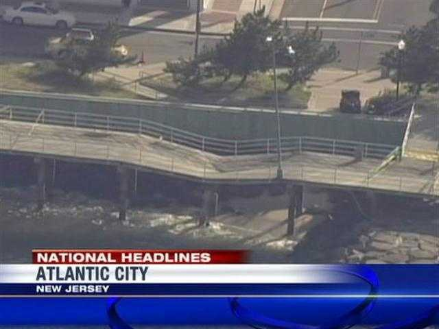 Two people were injured Thursday when part of the Atlantic City, N.J., boardwalk collapsed.