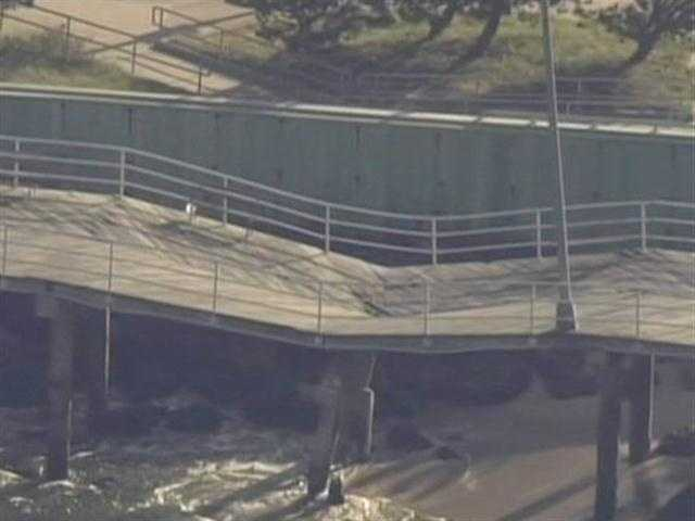 This section of the boardwalk is a popular fishing and walking destination and has been closed while repairs are made.