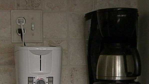 Many small kitchen appliances, like this coffee pot, draw around 3 watts, costing around 22 cents per month.