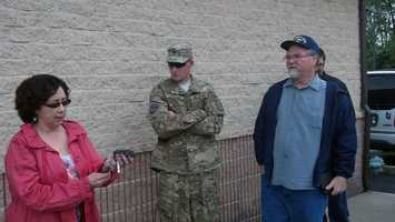 A York County solider surprised his wife and nearly 2-year-old son Tuesday morning at a children's play center.