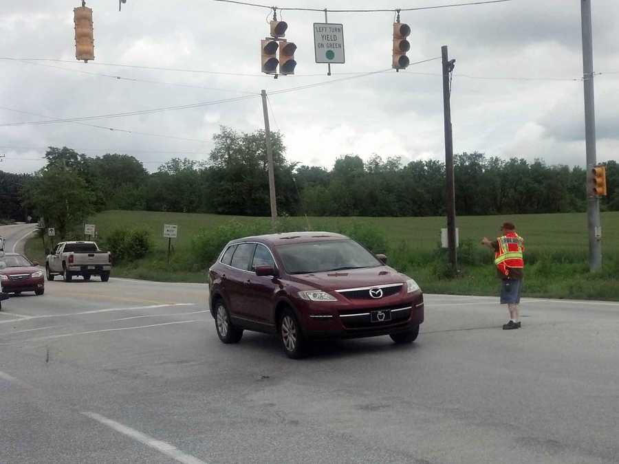 As of about 1:15 p.m., the traffic signals at Susquehanna Trail and Still Meadow Lane were out.