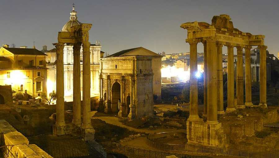 Among the most significant resources of Rome are the museums, aqueducts, fountains, churches, palaces, historical buildings, the monuments and ruins of the Roman Forum, and the Catacombs.