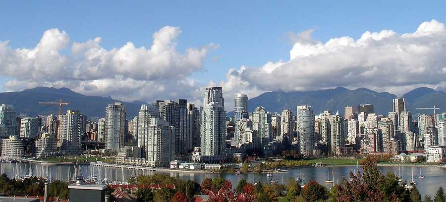 19. Vancouver, B.C.: This coastal harbor city is well known as an urban center surrounded by nature. Major film production studios have turned Metro Vancouver into the third-largest film production center in North America, and the city has host many international events, of with include the 2010 Winter Olympic Games.