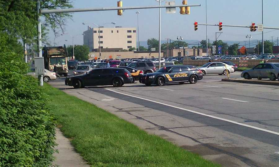 The incident happened about 7:45 a.m. at Seventh and Boas streets.