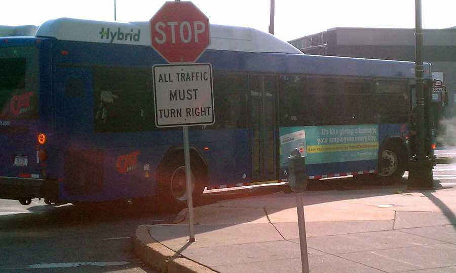 He did not have the right of way to cross the street and was hit by the bus, police said.