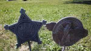 Upper Allen Township police released this photo of grave markers.