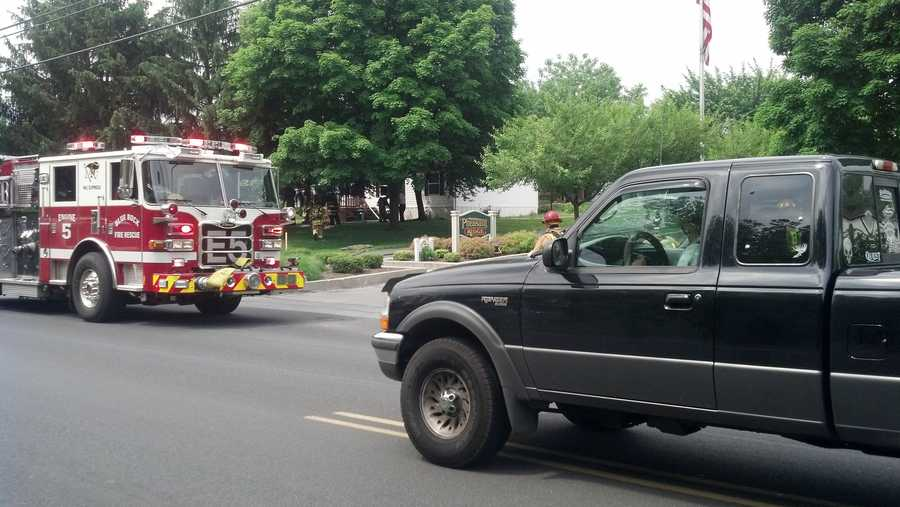 A home in Manor Township caught fire Wednesday morning for the second time in less than a year.