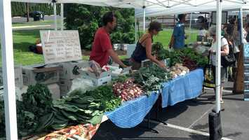 The market features 16 vendors from farms within a 50 mile radius of Camp Hill.