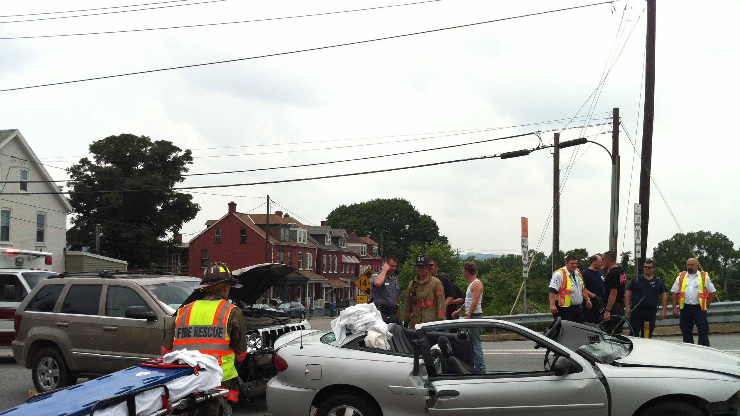 Car crash occurred at North Third Street and Avenue C in Columbia Borough.