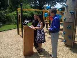 Harrisburg Mayor Linda Thompson unveiled the rebuilt Gorgas Park on Wednesday afternoon.