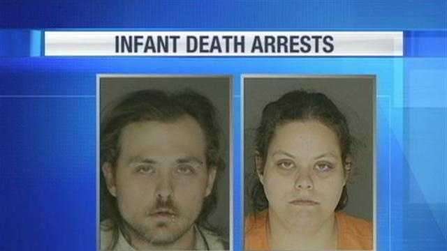 Police arrested Eric Clapper Sr. and Heather Almoney in connection with the November death of their infant.