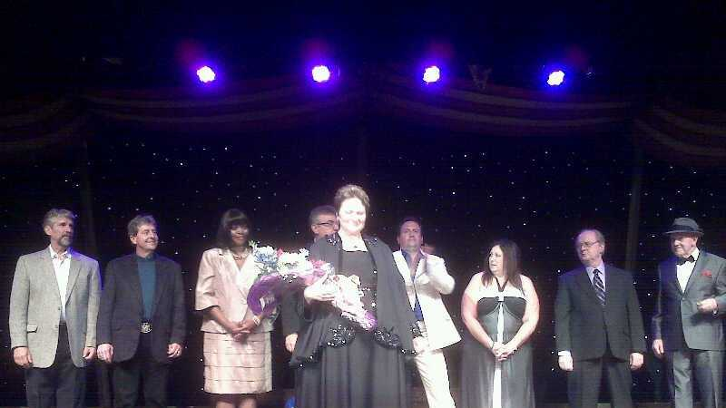 Vickie Kissinger is declared the winner of the Pa. Senior Idol competition on Monday.