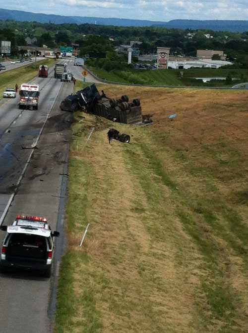 The crash happened in the northbound lanes just north of 441.