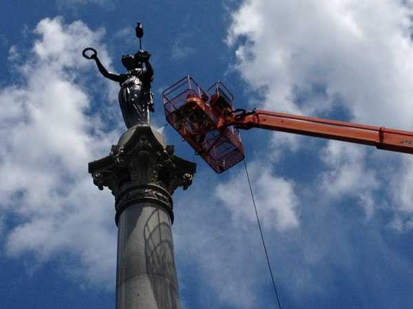 Crews are also planning to clean two other nearby monuments, including the Pennsylvania monument. The cleaning could affect access.