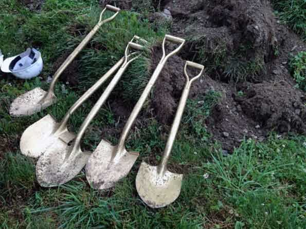 Officials broke ground on the project Tuesday. The equipment will be installed near the school's football stadium.