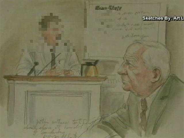 Sandusky listens as an accuser testifies against him.