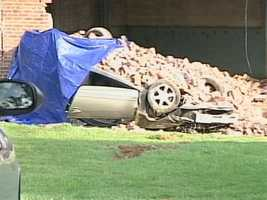 He lost control of the car and hit an empty one-room school house, police said. They think speed was a factor.