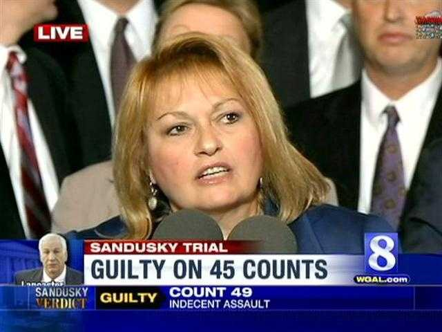 Attorney General Linda Kelly addresses the media after the trial.