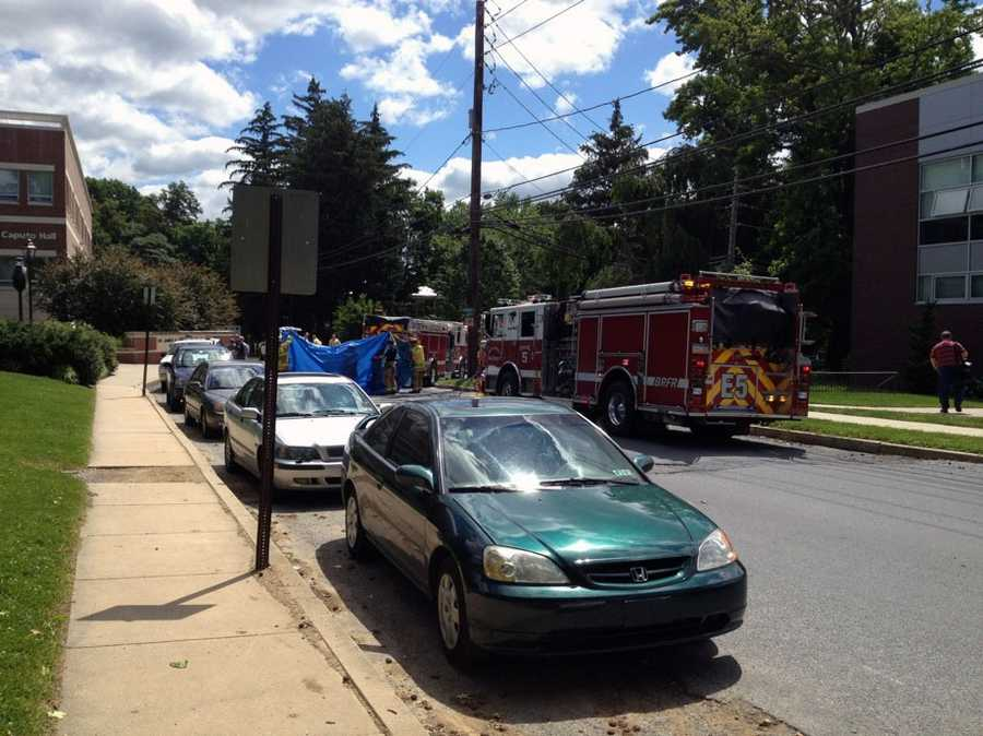 A student was taken to the hospital Tuesday morning after a hazmat incident at Millersville University.