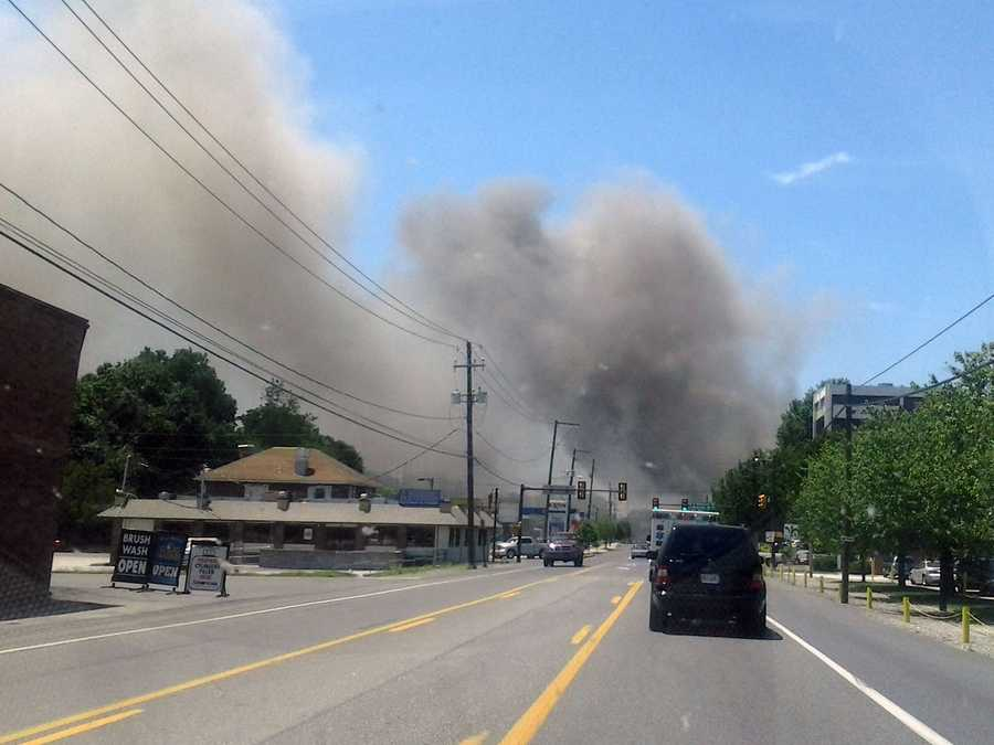 Fire crews battled a blaze on June 27, 2012, at a business in Columbia, Lancaster County.