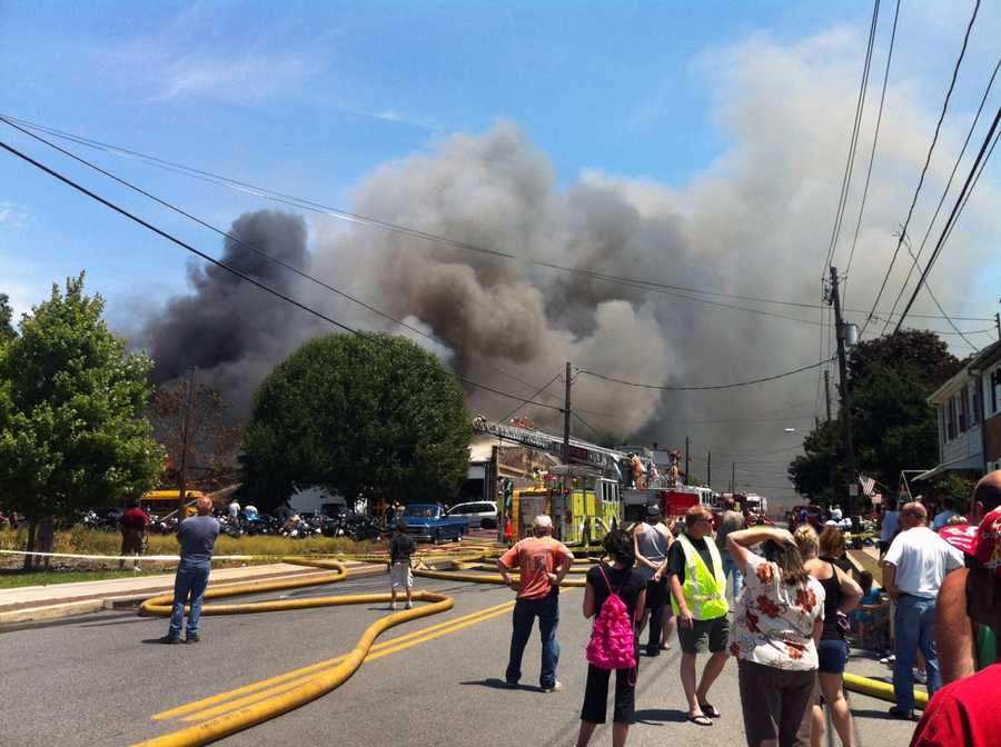 The fire was along Lancaster Avenue at South 11th Street.