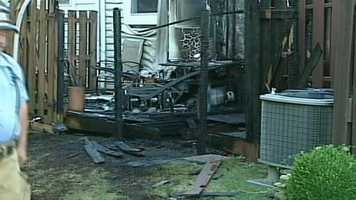 Two of the units were damaged by smoke and water.