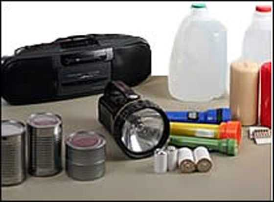 4. Tools and Supplies -- utility knife, duct tape, battery powered radio, etc...