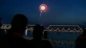 Harrisburg lit up the sky above the Susquehanna River with a fireworks display.