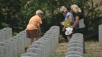 Many people visit the Indiantown Gap National Cemetery.