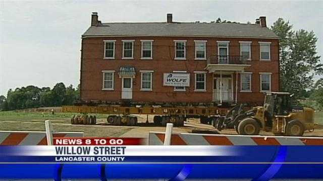 A historic farmhouse at the Willow Valley retirement community will be moved Thursday.