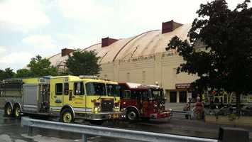 Fire crews were called to the old Hersheypark Arena Thursday.
