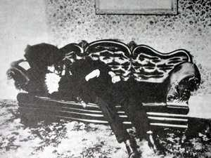 6. On August 4, 1892, Andrew and Abby Borden were found brutally murdered with a hatchet-like weapon. The Borden's daughter Lizzie testified she found her dad Andrews slumped on a couch in the downstairs sitting room, struck 10 or 11 times in the head with a sharp instrument.