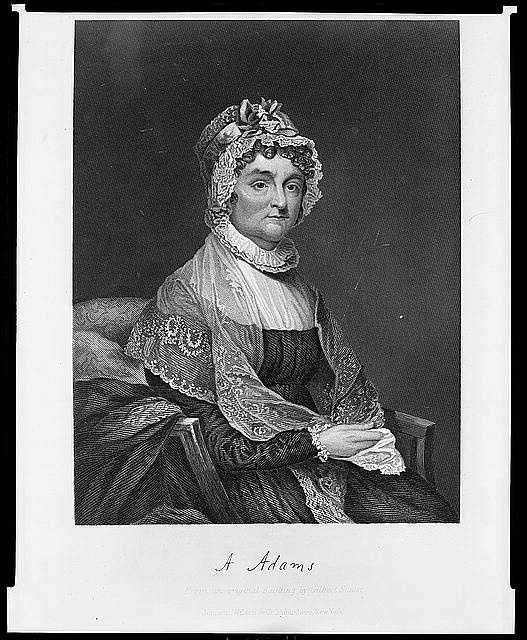 "1797-1801: Abigail Adams didn't have formal education, but her curiosity spurred her keen intelligence. Adams continued a formal pattern of entertaining when she became First Lady, but wasn't happy with the city's ""wilderness."""