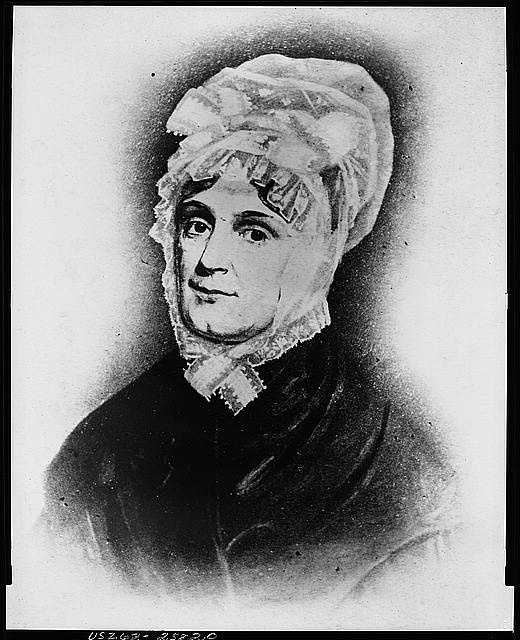 1841: Anna Tuthill Symmes Harrison didn't go to Washington with her husband for his inauguration. He died before he was in office for a month and Anna never made the trip to the White House.