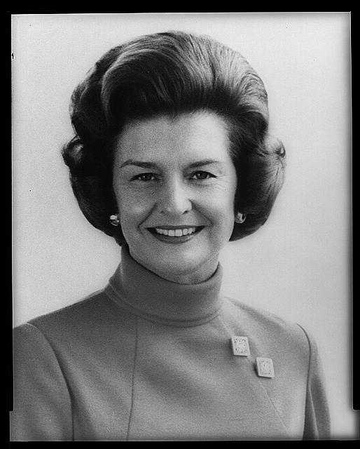 1974-1977: Betty Ford faced her role as First Lady with dignity and serenity. She often expressed herself with humor and forthrightness, and stated her views on controversial issues such as the Equal Rights Amendment.