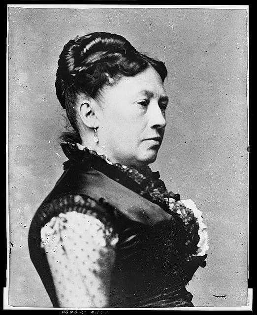 "1869-1877: Being in the White House was ""the happiest period"" of Julia Dent Grant's life. She entertained extensively and lavishly, and contemporaries noted her finery, jewels and silks and laces."