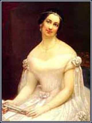 1841-1845: Julia Gardiner Tyler was 30 years younger than John Tyler, but reigned as First Lady. She revived the formality of the Van Buren administration and enjoyed her position.