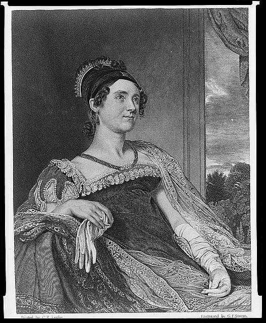 1825-1829: Louisa Catherine Adams was born in London to an English mother and an American father, and was the only First Lady born outside of the U.S. Louisa suffered from deep depression and preferred quiet evenings versus her weekly entertainments.