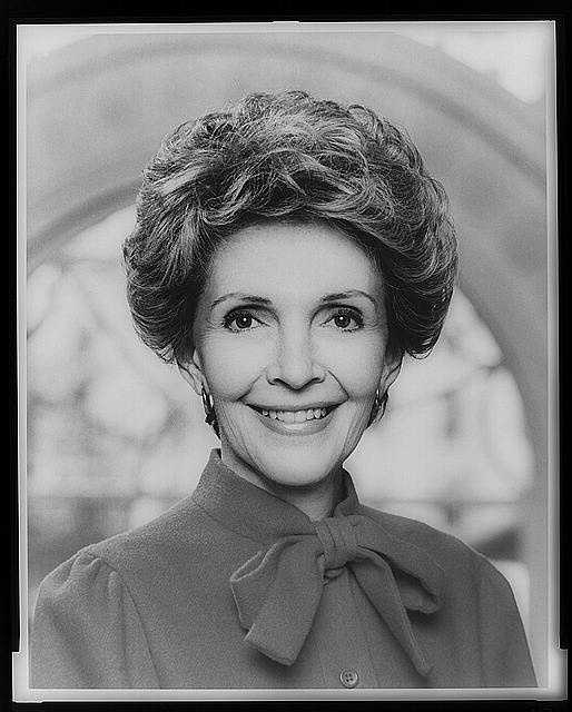 1981-1989: Nancy Reagan concentrated on the fight against drug and alcohol abuse among young people, and used the White House as a showcase for talented young performance in a PBS television series. Her first year in the mansion, Reagan oversaw a major renovation of the second- and third-floor quarters.